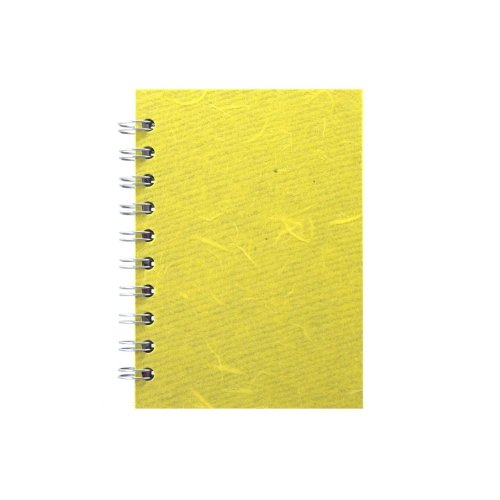 Pink Pig A6 Portrait, Yellow - Notebook Lined Paper 70 Leaves