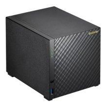 ASUSTOR AS1004T 4-Bay NAS Enclosure (No Drives), Dual Core CPU, 512MB, USB3, Diamond-Plate Finish