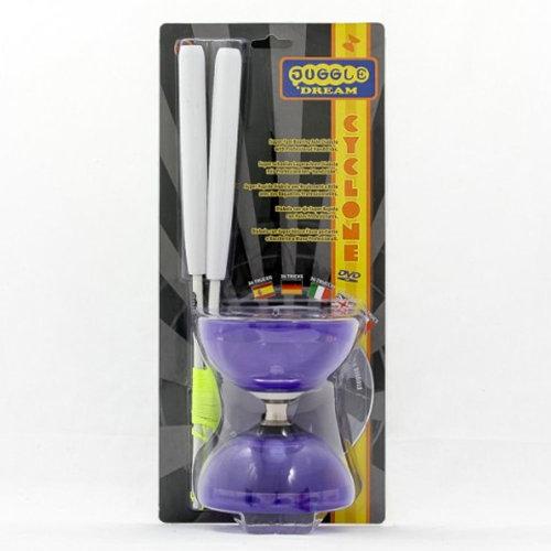 Juggle Dream Jester Cyclone Quartz 2 Diabolo and Pro Sticks