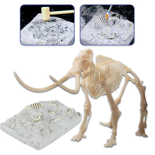 deAO Mammoth Fossil Skeleton Figure Palaeontology Kit for Children Educational Simulated Dinosaur Bones Set (Mammoth)
