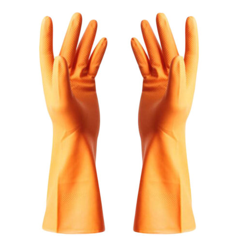 Summer Waterproof Gloves Cleaning Gloves Dish Washing Gloves -Orange
