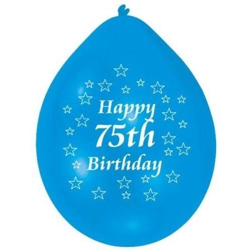 10pk Happy 75th Birthday Balloons