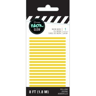 Heidi Swapp Neon Glow Wire 8'-Yellow