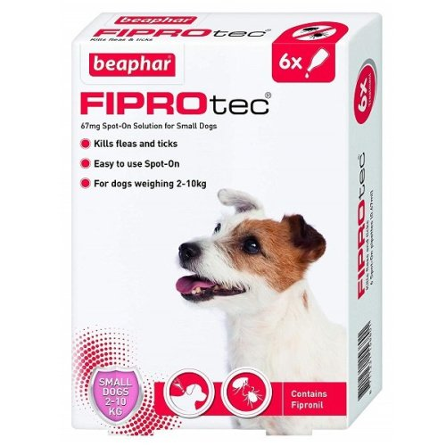 FIPROtec Spot-On Small Dog - 6 Pipettes
