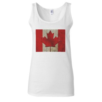 Canadian Flag Canada Ottawa Fashion Retro White Women Vest Tank Top