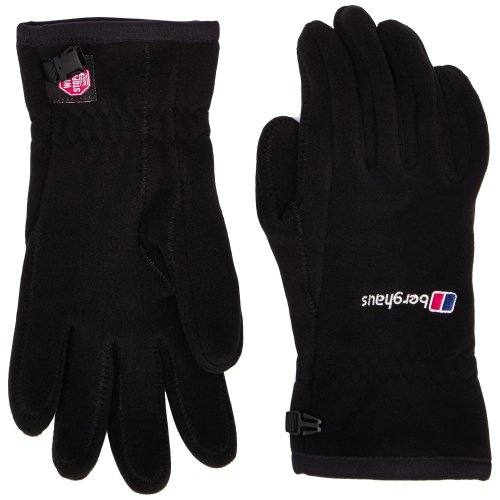 Berghaus Windproof Windystopper Adult's Outdoor Fleece Gloves available in Black - Large