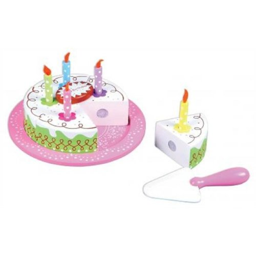 Lelin Wooden Birthday Party Cream Cake Pretend Play Role Set For Children On OnBuy