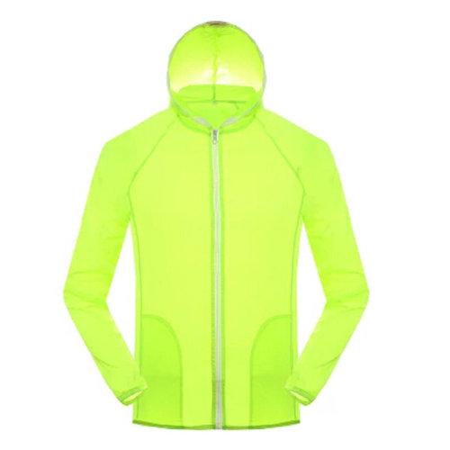 Windproof Outdoor Super Lightweight UV Protector Quick Dry Skin Coat,Light Green