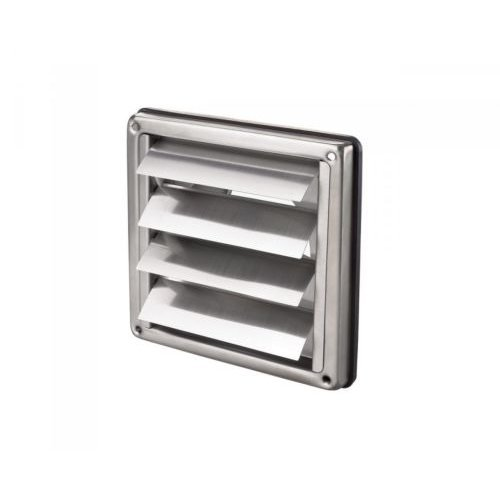 """Stainless Steel Square Air Vent Grill 125 mm 5"""" - Extractor - Wall Vent Gravity"""