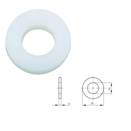 M12 Nylon Flat Washer DIN 125-1A