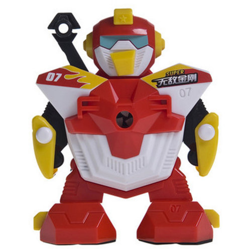 Creative Robot Manual Pencil Sharpener For Classroom 10x11x12.5CM Red