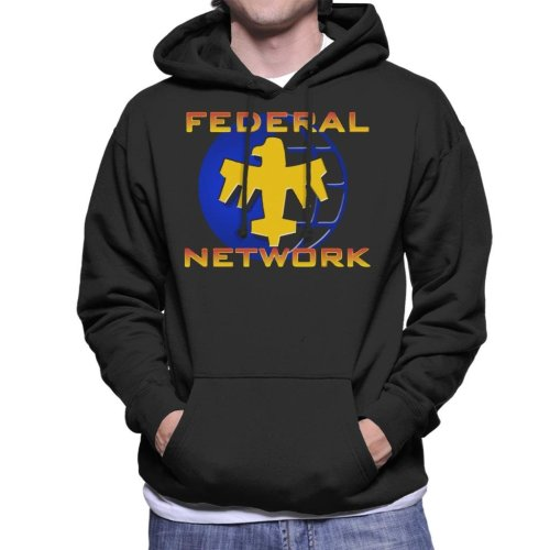Starship Troopers Federal Network Gold Blue Logo Men's Hooded Sweatshirt