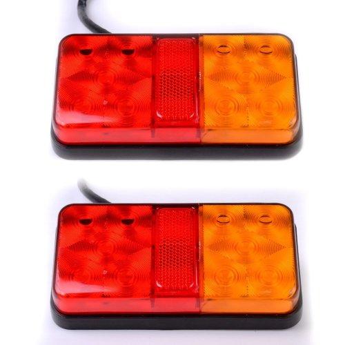 2 x 12V LED Rear Tail Stop Light Indicator Lamp Truck Trailer Lorry Van Caravan