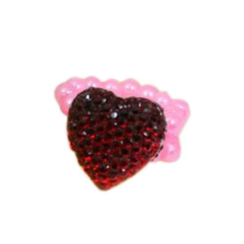 4 Pieces of Red Diamond Children-Pretend-Play Jewelry Rings
