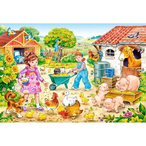 Csb040087 - Castorland Jigsaw Premium Maxi 40 Pc - Farm