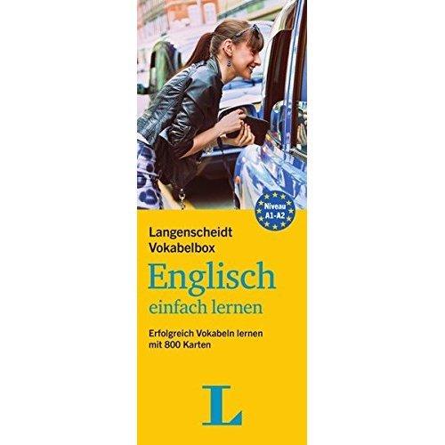 Langenscheidt Vokabelbox Englisch einfach lernen - Box mit Karteikarten: Erfolgreich Vokabeln lernen mit 800 Karten