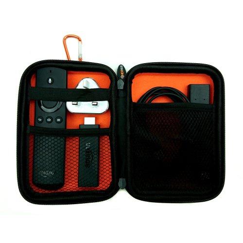 TechTidy Travel Case Fire TV Stick and First Gen, Alexa Voice, Echo Dot Remote