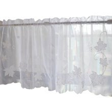 Sweet Embroidered Curtain Kitchen Curtain Coffee Screens- 05