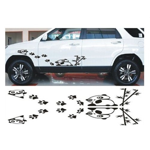 """Car Decal Stickers Car Door Decal Engine Hood Stickers BLACK (About 39.4""""x5.9"""")"""