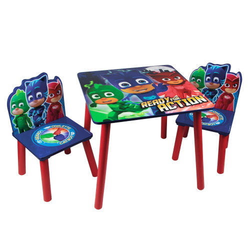 PJ Masks Table & Chairs Set - Wooden Kids Activity Playroom Furniture