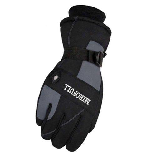 Warm Windproof Waterproof Ski Gloves Skiing Gear Winter Sports Gloves for Men, 04
