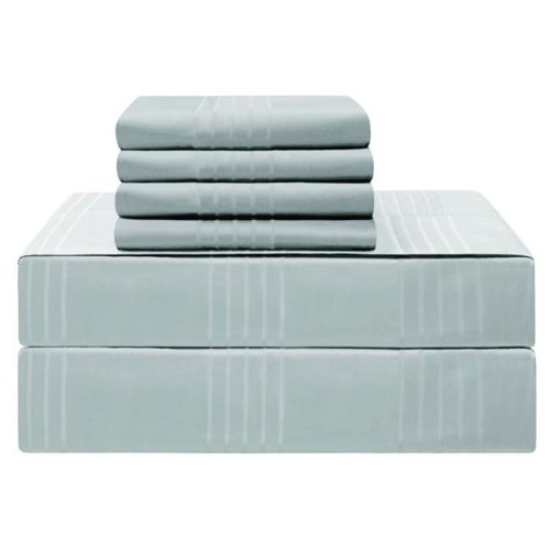 Jean Pierre YMS008221 Premium 420 Thread Count 100 Percent Cotton Sheet Set, Spa Blue - King - 6 Piece