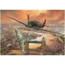 Falcon Deluxe Spitfire over London Jigsaw Puzzle (1000 Pieces)