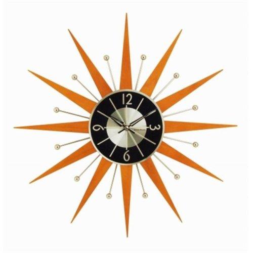 NeXtime 122012 George Nelson Wooden Starburst Clock