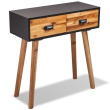 vidaXL Solid Acacia Wood Console Table 70x30x75 cm